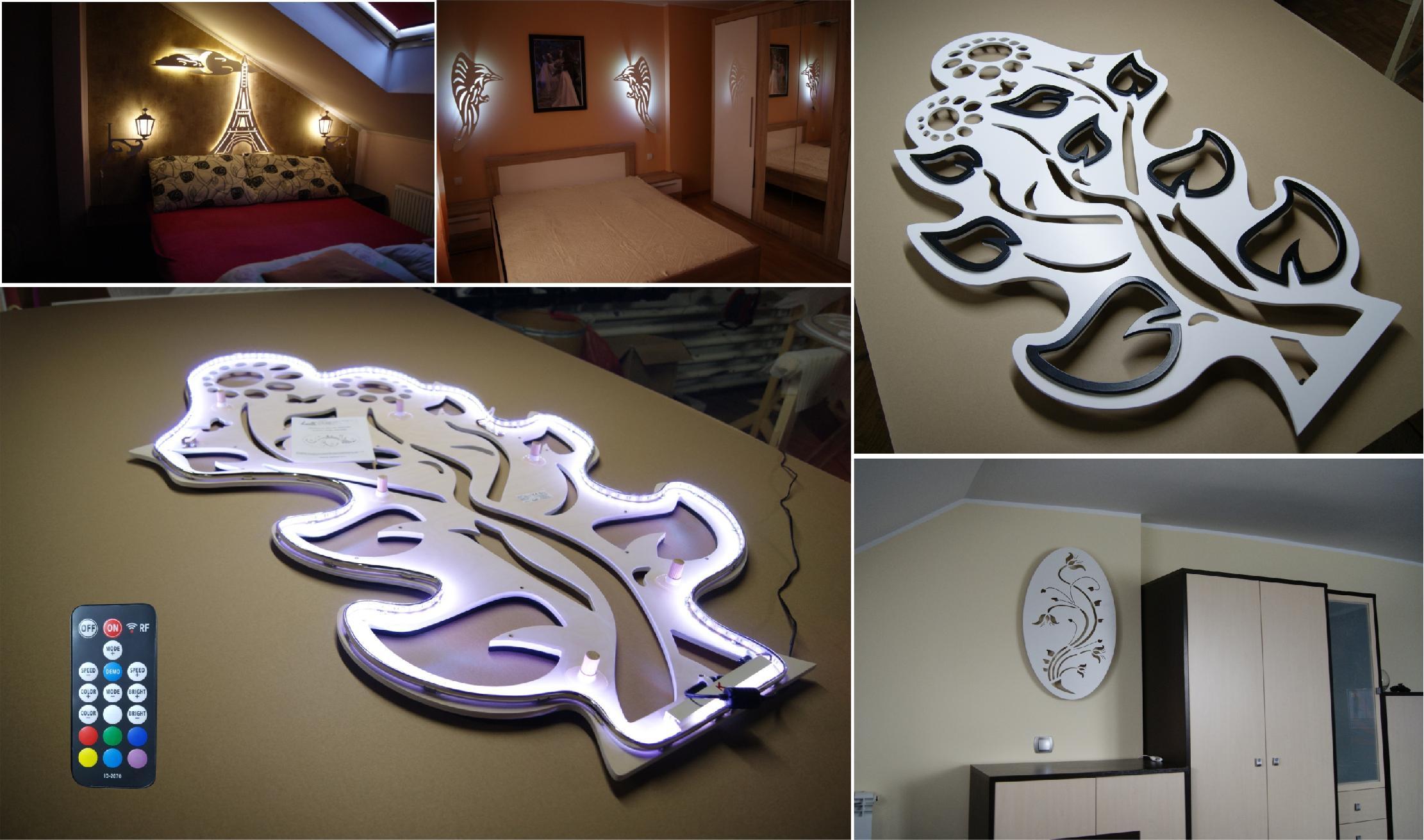 Wandbeleuchtung für Wohnzimmer , Schlafzimmer , Küche und Flur.